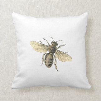Vintage Images Honey Bee Throw Pillow