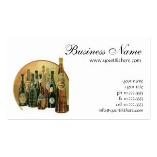 Vintage Imported Beer Bottles, Alcohol, Beverages Pack Of Standard Business Cards