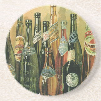 Vintage Imported Beer Bottles, Alcohol, Beverages Coaster