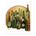 Vintage Imported Beer Bottles, Alcohol, Beverages Postcards