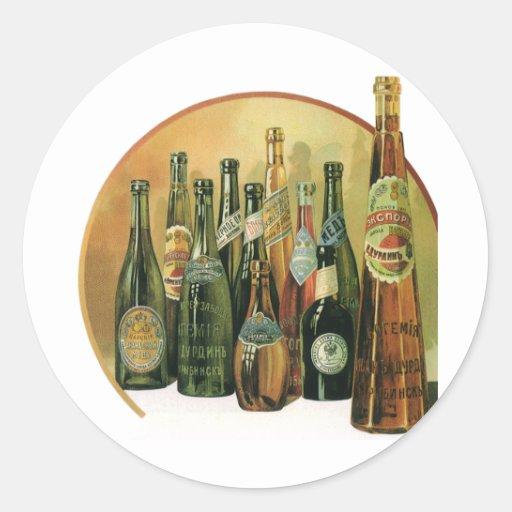 Vintage Imported Beer Bottles, Alcohol, Beverages Sticker