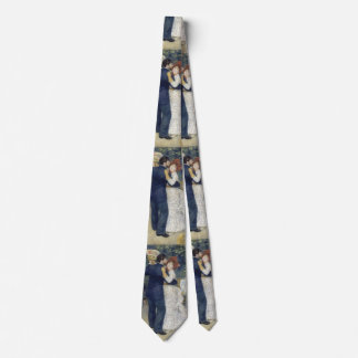 Vintage Impressionism Art, Country Dance by Renoir Tie