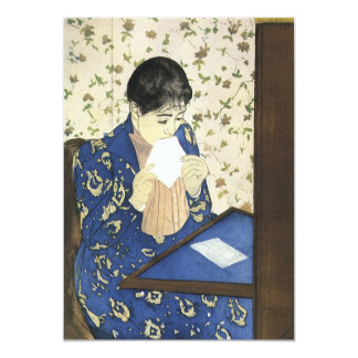 Vintage Impressionism Art, Letter by Mary Cassatt 13 Cm X 18 Cm Invitation Card