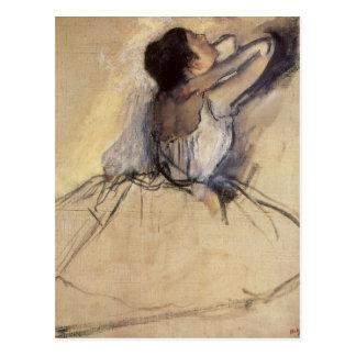 Vintage Impressionism Ballet Dancer by Edgar Degas Postcard
