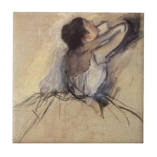 Vintage Impressionism Ballet Dancer by Edgar Degas Small Square Tile