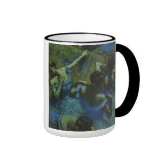 Vintage Impressionism, Blue Dancers by Edgar Degas Ringer Mug