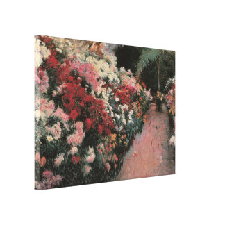 Vintage Impressionism, Chrysanthemums by Bunker Stretched Canvas Prints
