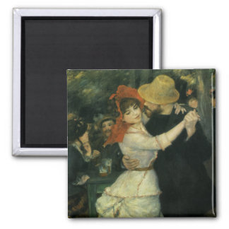 Vintage Impressionism, Dance at Bougival by Renoir Square Magnet