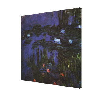 Vintage Impressionism Flowers Waterlilies by Monet Canvas Prints