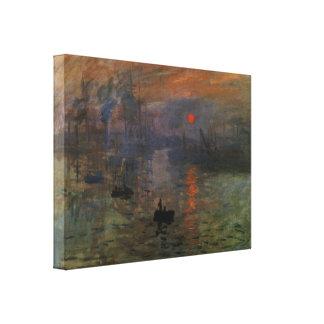 Vintage Impressionism, Impression Sunrise by Monet Canvas Print