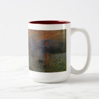 Vintage Impressionism, Impression Sunrise by Monet Two-Tone Mug