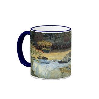 Vintage Impressionism, Luncheon by Claude Monet Ringer Mug