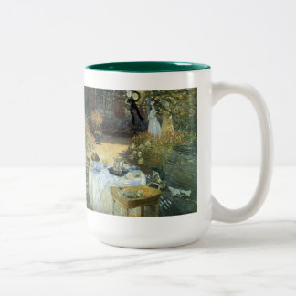 Vintage Impressionism, Luncheon by Claude Monet Two-Tone Mug