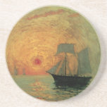 Vintage Impressionism, Red Sun by Maxime Maufra Coaster
