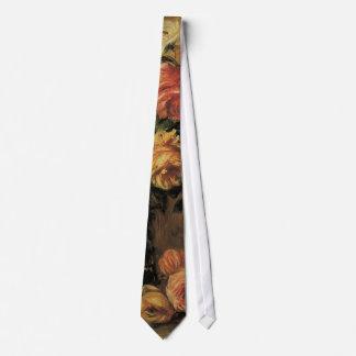 Vintage Impressionism, Roses in a Vase by Renoir Tie