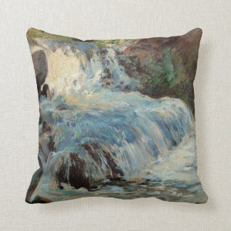 Vintage Impressionism, The Waterfall by Twachtman Throw Pillow