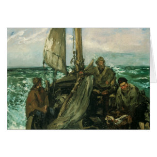 Vintage Impressionism, Toilers of the Sea by Manet Greeting Card