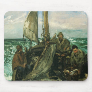 Vintage Impressionism, Toilers of the Sea by Manet Mouse Pad