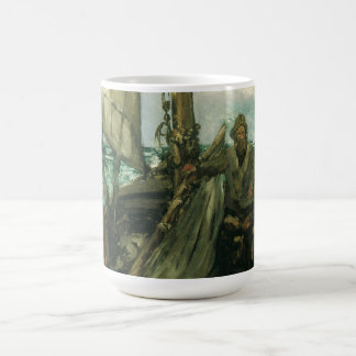 Vintage Impressionism, Toilers of the Sea by Manet Basic White Mug
