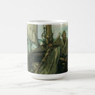 Vintage Impressionism, Toilers of the Sea by Manet Basic White Mug