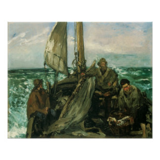 Vintage Impressionism, Toilers of the Sea by Manet Poster