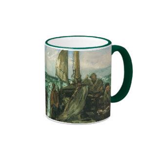 Vintage Impressionism, Toilers of the Sea by Manet Ringer Mug