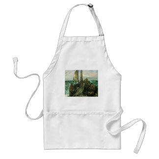 Vintage Impressionism, Toilers of the Sea by Manet Standard Apron