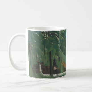 Vintage Impressionism, Waterfall by Henri Rousseau Basic White Mug