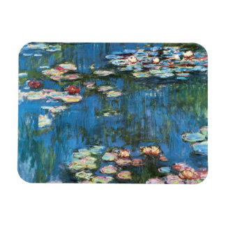 Vintage Impressionism, Waterlilies by Claude Monet Rectangular Photo Magnet