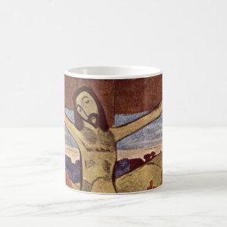 Vintage Impressionism, Yellow Christ by Gauguin Basic White Mug