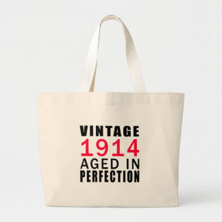 Vintage In 1914 Aged In Perfection Large Tote Bag