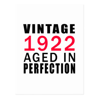 Vintage In 1922 Aged In Perfection Postcard