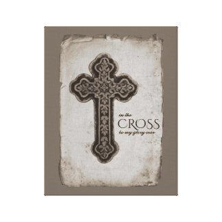 Vintage In the Cross Christian Faith Canvas Print