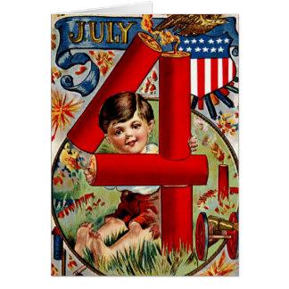 Vintage Independence Day Card