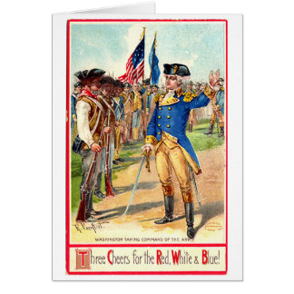 Vintage Independence Day Washington Card