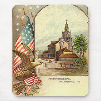 Vintage Independence Hall Mouse Pad
