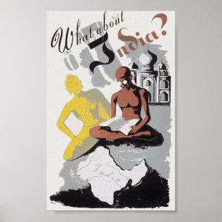 Vintage India Propaganda Poster