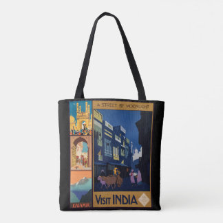 Vintage India Travel Poster collage bags