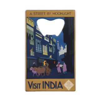 Vintage India Travel Poster custom bottle opener