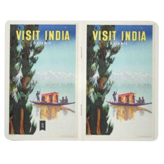 Vintage India Travel Poster custom pocket journal