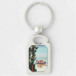 Vintage India Travel Poster key chain