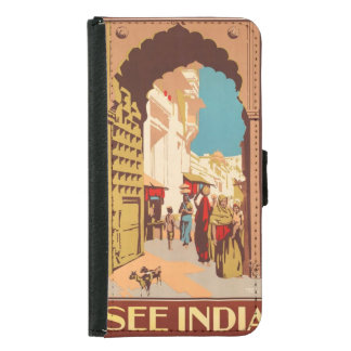 Vintage India Travel Poster phone wallets