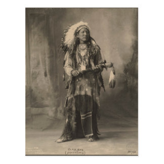 Vintage indian : Black Man, Arapahoes - Postcard