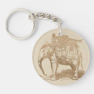 Vintage Indian Elephant Keychain