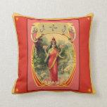 Vintage Indian Goddess Pillow Throw Cushions