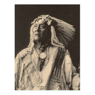 Vintage indian : High Bear, Sioux - Postcard