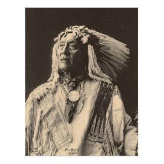 Vintage indian : High Bear, Sioux - Postcard