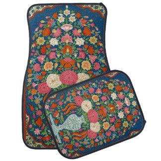 Vintage Indian Oriental Floral Ornate Rug