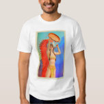Vintage Indian Princess Pin Up Art Girl T-shirts