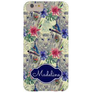 Vintage Indian Style Tiger Pattern | Add Your Name Barely There iPhone 6 Plus Case